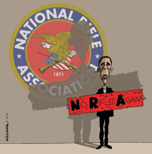 Obama vs NRA.Dec 2012