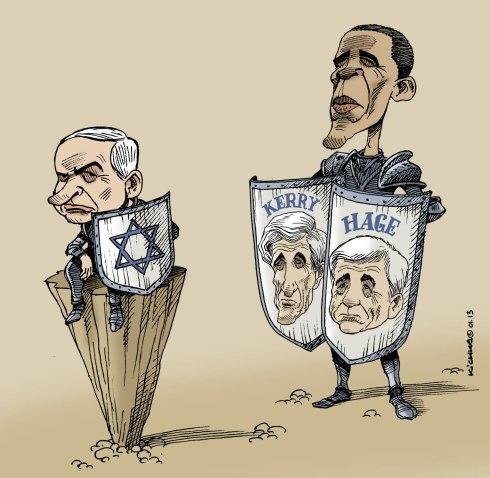 Obama Kerry Hage and Bibi 2013