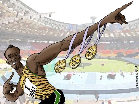 Usain Bolt Moscow 2013
