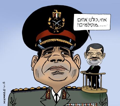 Sisi and Morsi Oct 2013