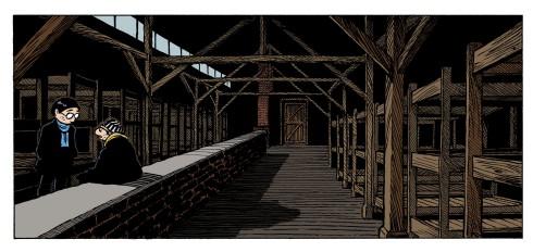 Auschwitz baraque color