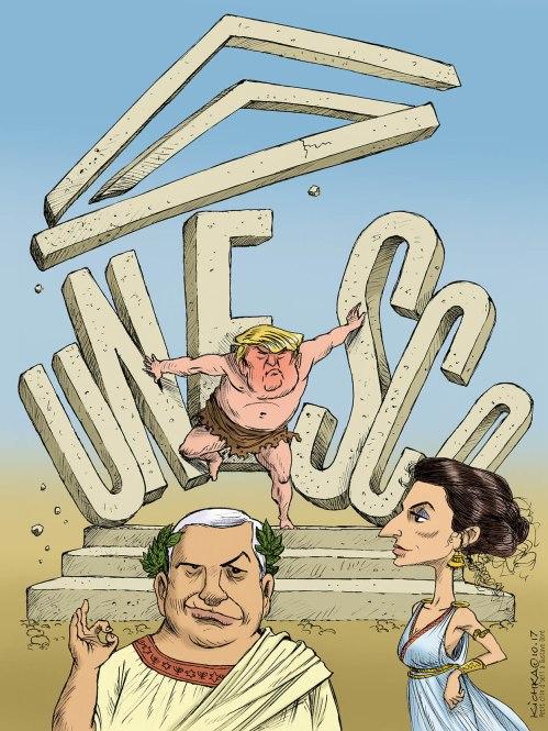 Unesco Trump Bibi Azoulay 2017
